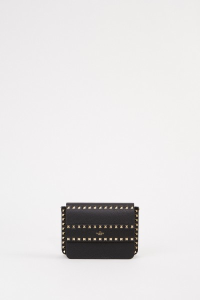 Valentino Clutch with studs Black/Gold