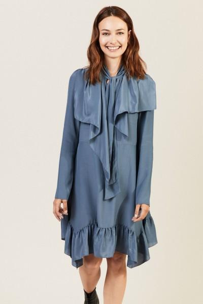 Kleid mit Binde-Detail Mirage Blue