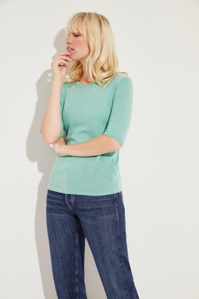 Kurzarm Cashmere-Pullover 'Lynn' Grün