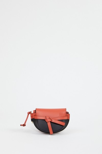 Loewe Shoulder Bag 'Mini Gate' Black/Coral