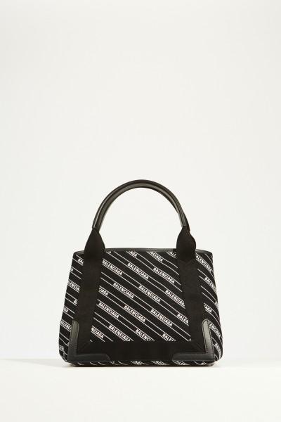Shopper 'Cabas S' Schwarz/Weiß