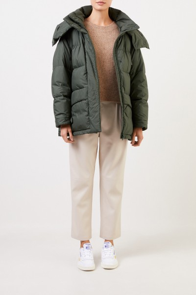 Aspesi Down jacket with hood Green