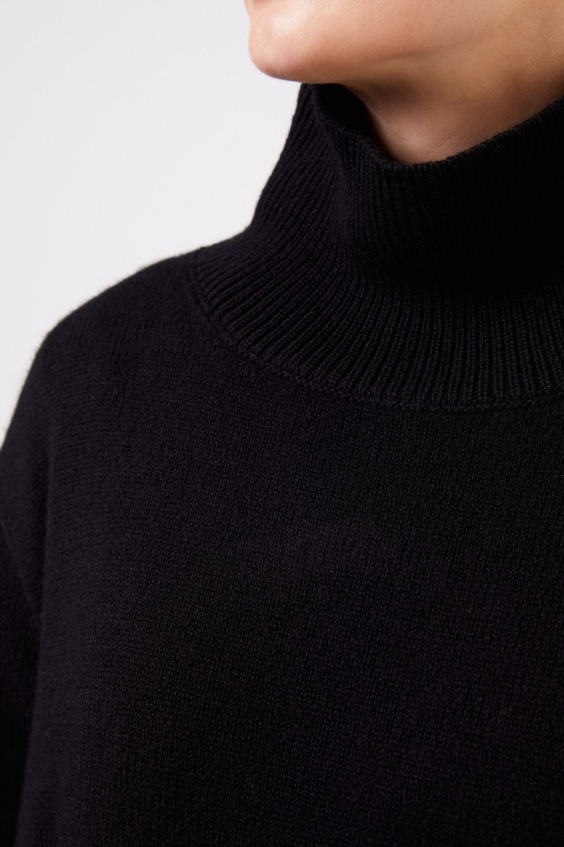 The Row Woll-Cashmere-Pullover 'Milina' Schwarz