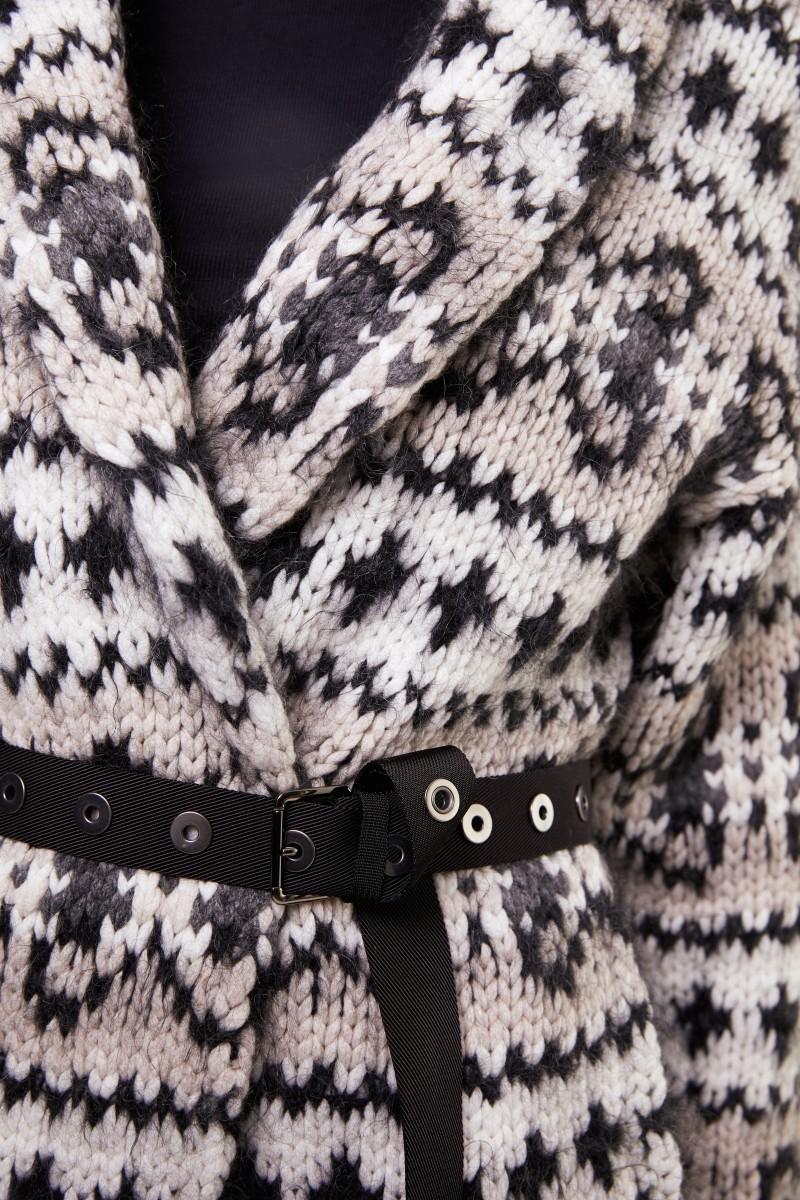 Brunello Cucinelli Cashmere-Cardigan mit Gürtel Multi