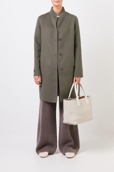 Klassischer Cashmere-Wollmantel Khaki
