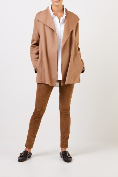 Wool-Cashmere Coat in Camel