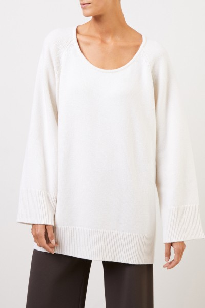 The Row Woll-Cashmere-Pullover 'Damian' Weiß