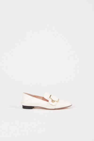 Bally Leather Loafer 'Maelle' with buckle Cream