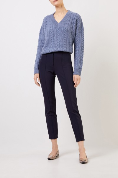 Classic trousers 'Ros' Navy Blue