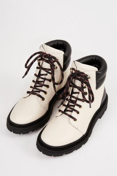 Bally Ankle Lace-up Boots 'Ganya' Black/Cream