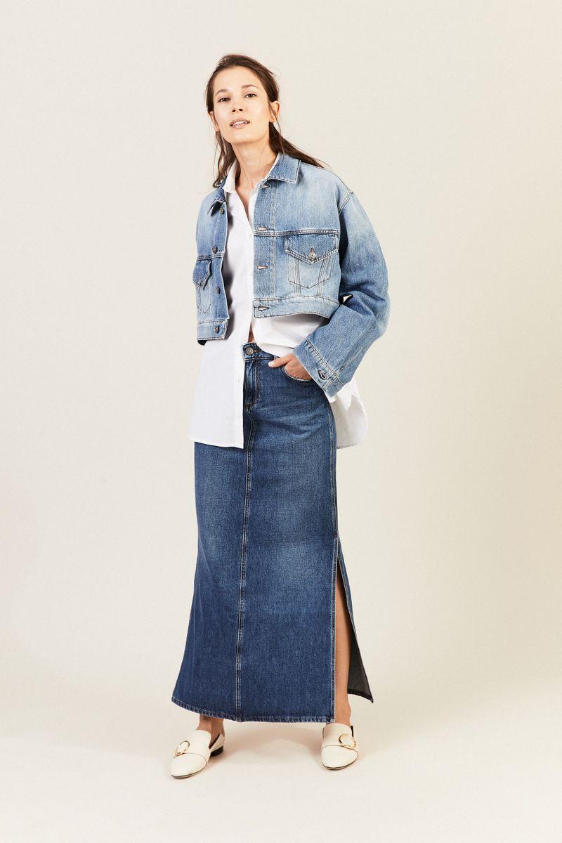 Oversize Jeansjacke Blau