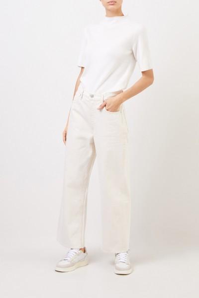 Fabiana Filippi Short sleeve wool silk pullover White