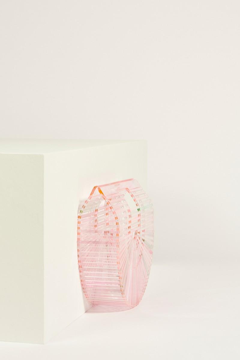 Tasche 'Acrylic Ark Small' Rosé