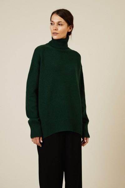 Woll-Cashmere-Rollkragenpullover Grün