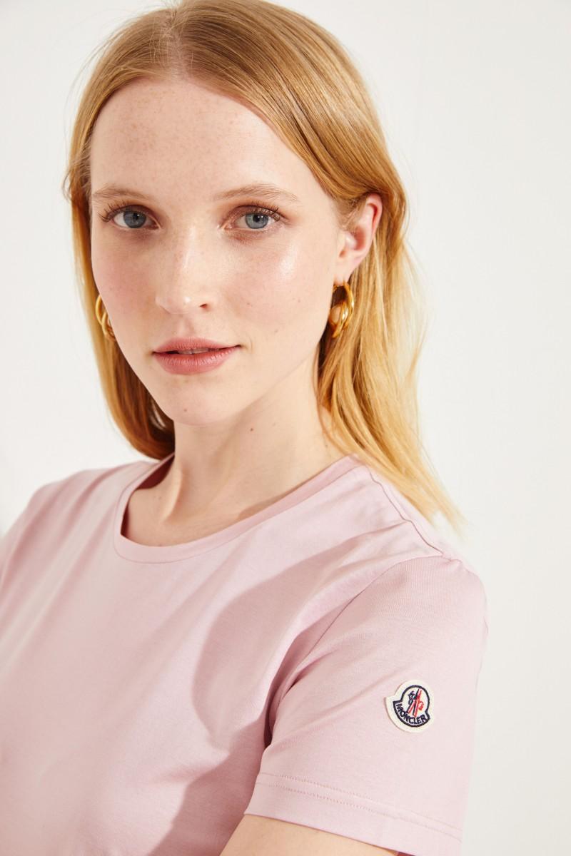 Baumwoll-Shirt mit Logo Rosé