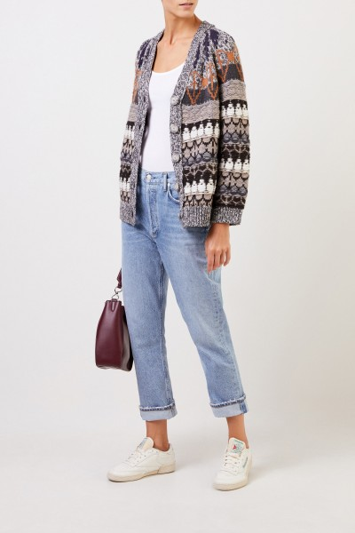 Patterned wool cardigan Multi