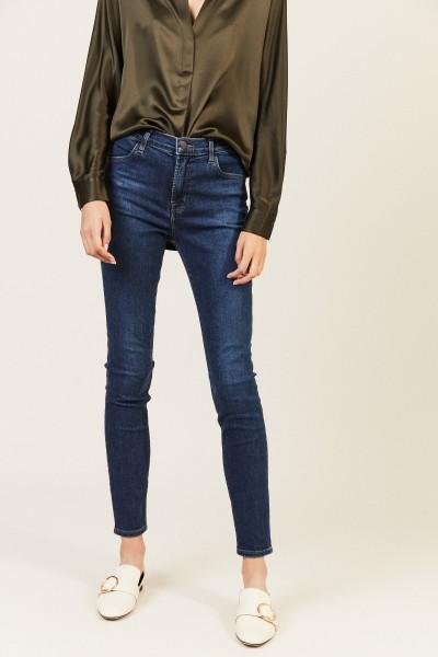 High-Rise Skinny Jeans 'Maria' Blau