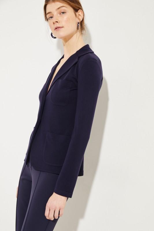 Woll-Blazer Blau