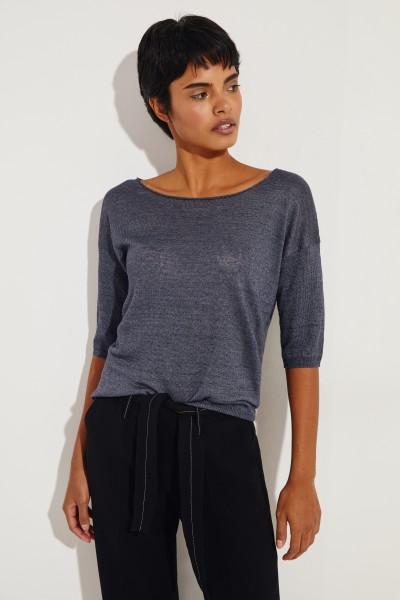 Leinen-Shirt 'Salvador' Blau