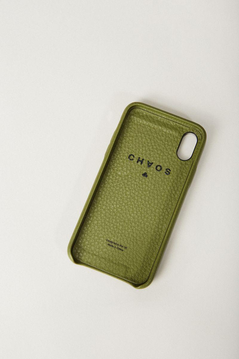 Iphone X Case 'Hand Hug' Khaki
