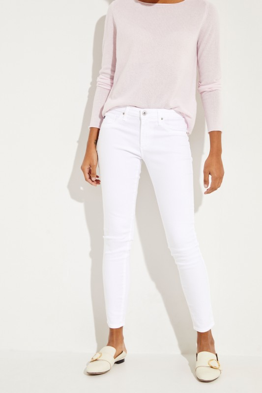 AG Jeans Super Skinny Jeans 'The Legging Ankle' Weiß