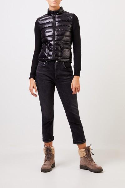 Moncler Down cardigan Black