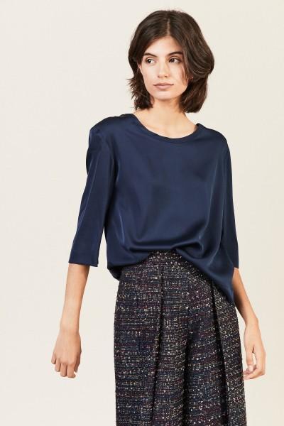 Seiden-Bluse 'Florentine' Blau