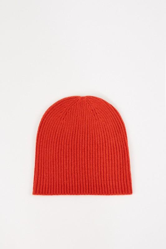 Uzwei Woll-Cashmere-Mütze Orange