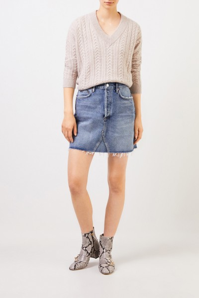Short denim skirt 'Ada' Light Blue