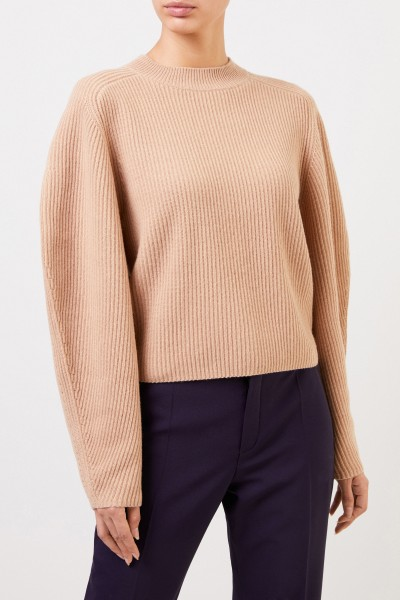 Chloé Short wool cashmere pullover Barley Brown