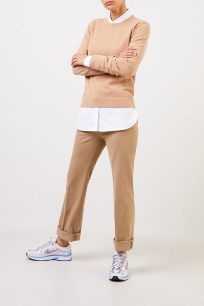 Agnona Classic Cashmere Sweater Beige