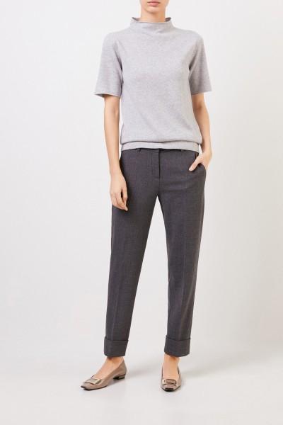 Fabiana Filippi Short sleeve wool silk pullover Grey