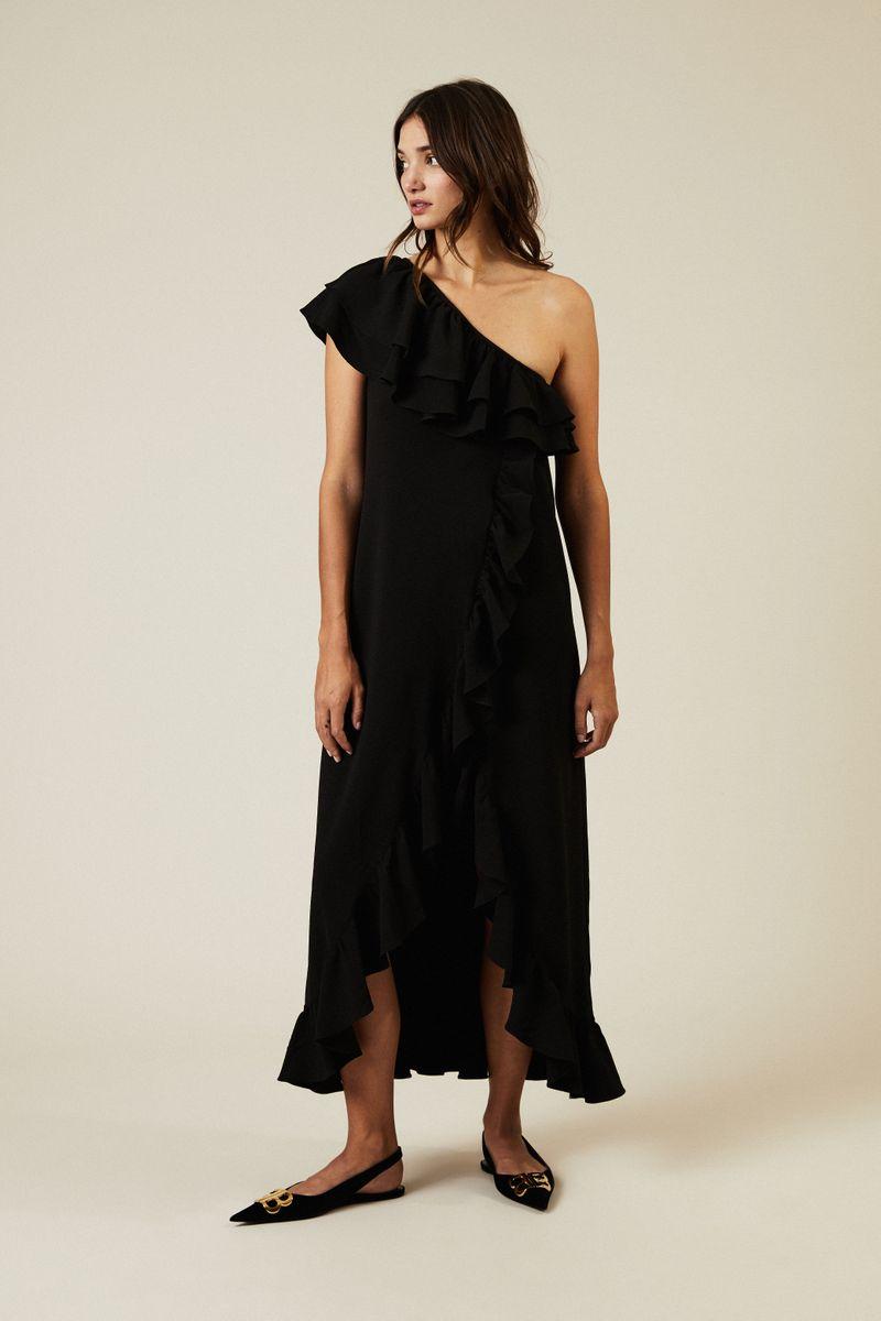 Midi-Kleid 'Clark' Schwarz