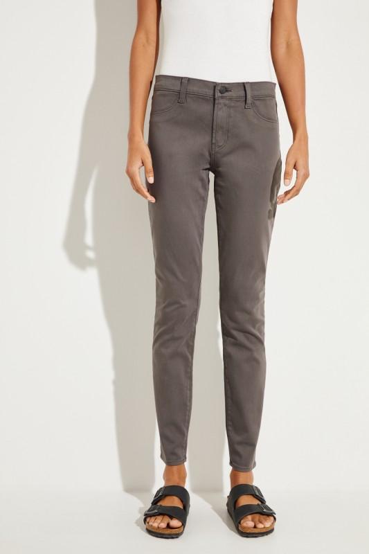 Midrise-Skinny-Jeans Grau