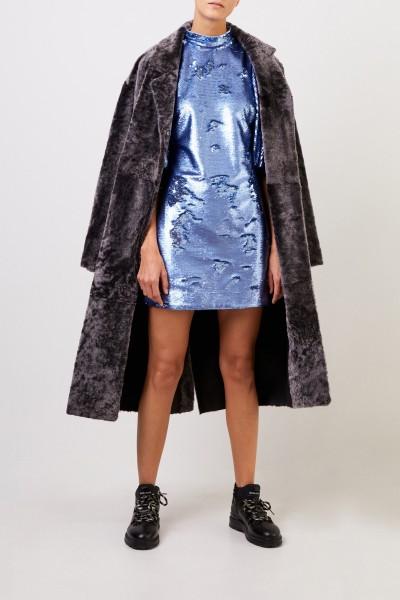 Benedetta Novi Reversible lambskin coat 'Thea' Grey