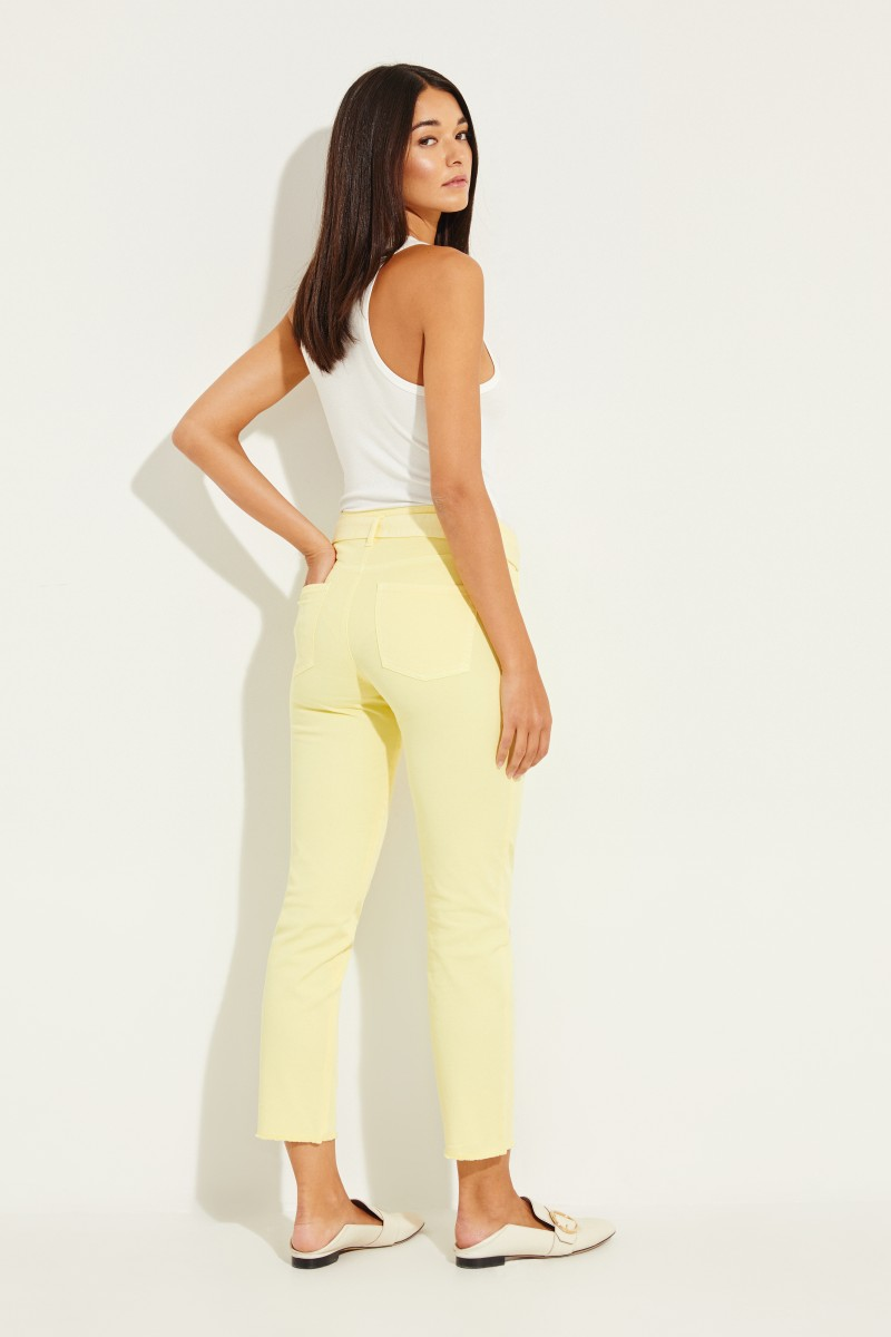 Jeans 'Scout Cropped' Gelb