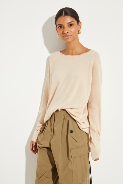 Oversize Cashmere-Pullover 'Cayo' Beige