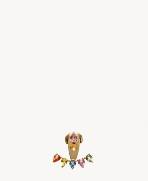 Ohrring 'Dessous D'Oreille' 18 Kt. Gelbgold/Multi