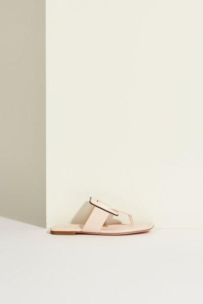 Patent leather sandal 'Viv Sellier Thong' Rose