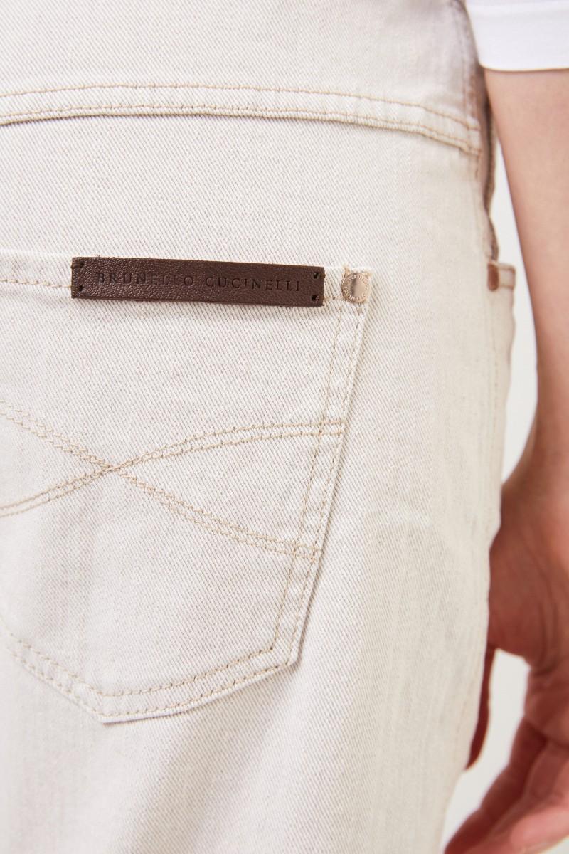 Brunello Cucinelli Klassische Jeans Creme