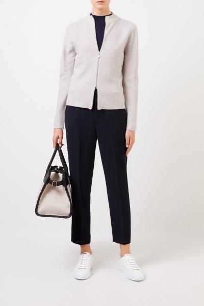 Wool-silk-cardigan with sequin details Beige