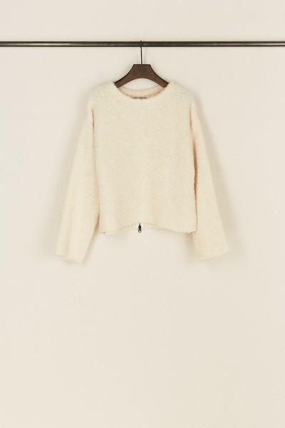Pullover 'Eileen' aus Alpaka und Wolle Crème