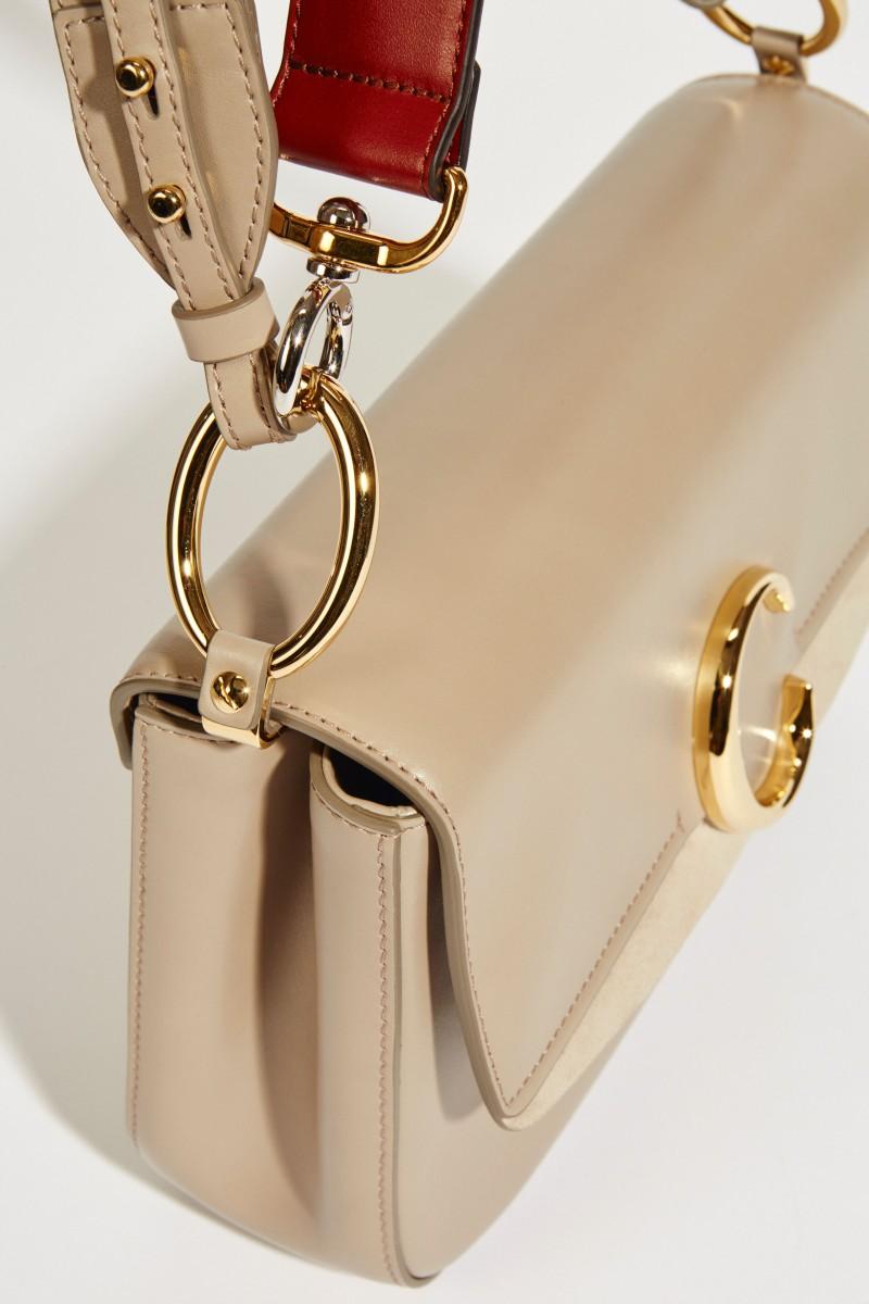 Tasche 'Chloé C Medium' Motty Grey