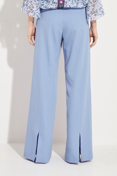 Wide Woollen Pants Blue