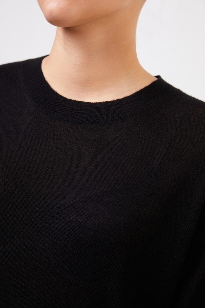 Bottega Veneta Langer Cashmere-Pullover Schwarz