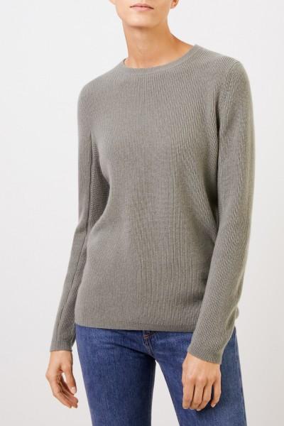 Uzwei Cashmere-Pullover mit Mesh-Strick Salbei