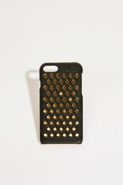 IPhone Case 7/8 with rivet details Black