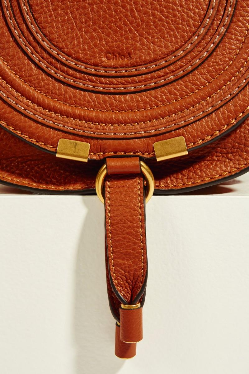 Umhängetasche 'Marcie Saddle Small' Tan