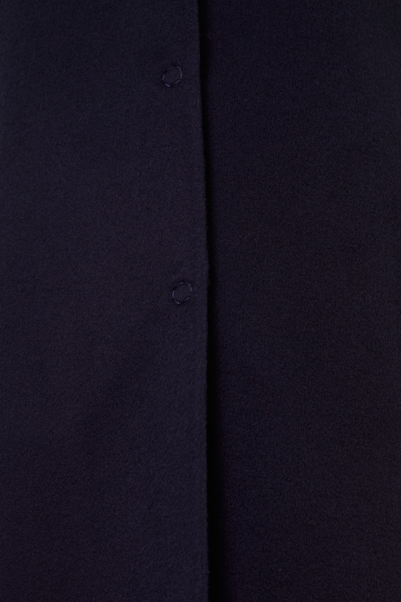 Manzoni 24 Woll-Cashmere-Mantel mit Revers Marineblau