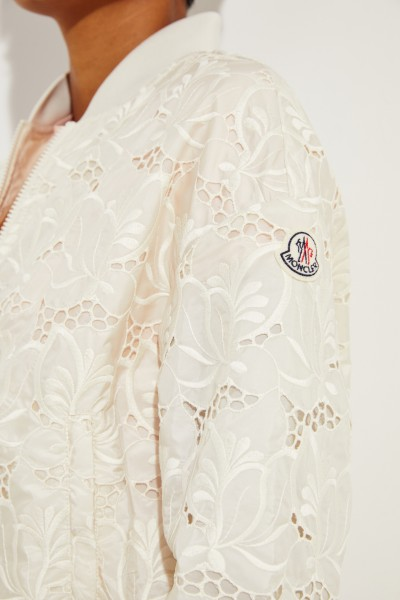 Moncler Jacket 'Tinote' with embroidery White